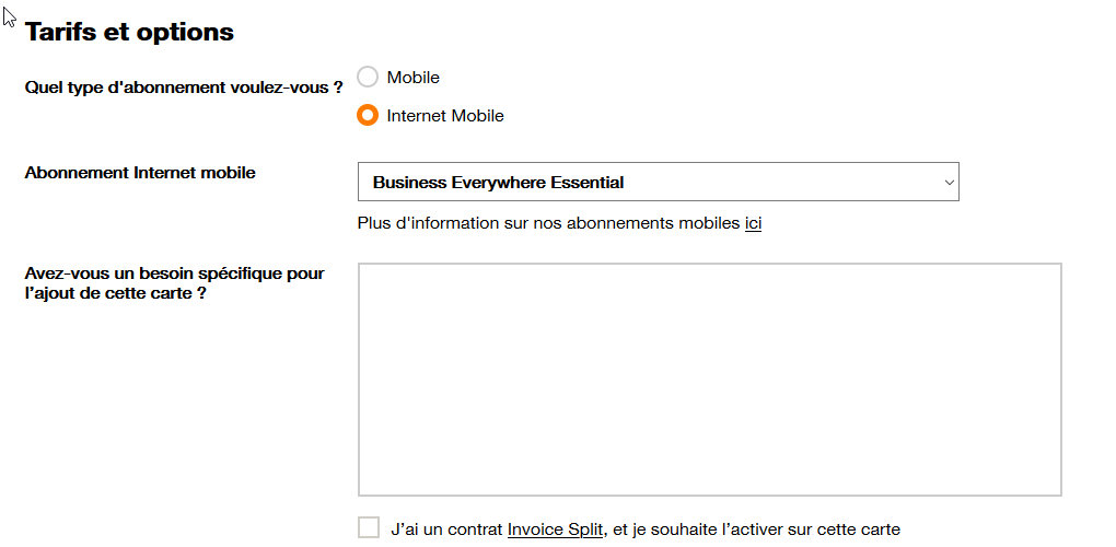 une carte Business Everywhere